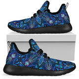 Dark Blue Night Sky Mesh Knit Sneakers