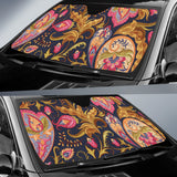 Royal Blue Paisley Auto Sun Shades