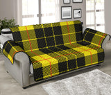 Yellow Tartan Passion 70'' Sofa Protector