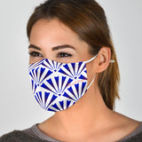 Traditional Blue & White Ornamental Vibes Design Three Protection Face Mask