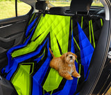 Racing Style Blue & Neon Green Vibes One Pet Seat Cover
