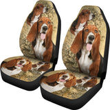 Brown Basset Hound Car Seat Cover