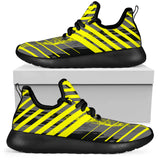 Racing Urban Style Yellow & Grey Vibes Mesh Knit Sneakers