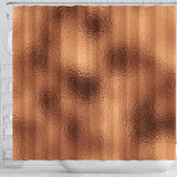 Glittering Copper Shower Curtain