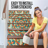 Best Home Decoration Luxury Mandala Style Two Stair Stickers (Set of 6)