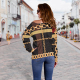 Extraordinary Chain Women's Off Shoulder Sweater