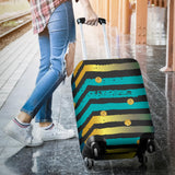 Luxury Neon Strips Luggage Cover
