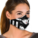 Women in Black & White Stripes Premium Protection Face Mask