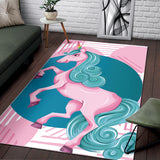 Funny Unicorn Area Rug