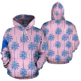 Pink Color Palm Blue Style Street Art Design Hoodie