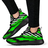 Racing Style Funky Green & Black Vibes Mesh Knit Sneakers