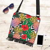 Summer Pineapple Love Crossbody Boho Handbag
