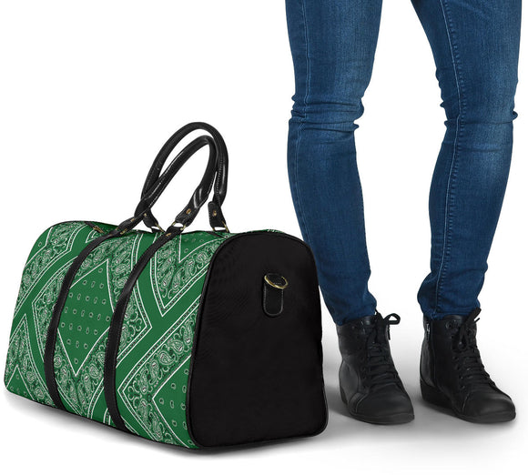 Exclusive Classic Green Bandana Style Travel Bag