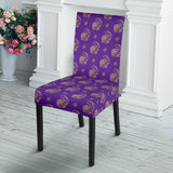 Lucky Purple Elephant Dining Chair Slip Cover