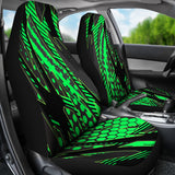 Racing Style Matrix Green & Black Vibes Car Seat Covers
