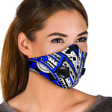 Special Blue and White Ornamental Design Premium Protection Face Mask