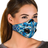 Light Blue Mandala Premium Protection Face Mask