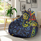 Glowing Rasta Mandala Bean Bag Chair