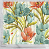 Lovely Flowers Shower Curtain