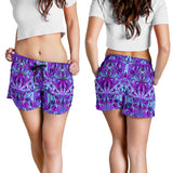 Psychedelic Violet Women's Shorts