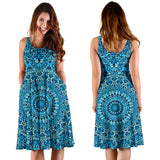 Sky Blue Mandala Women's Dress