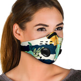 Special Flowers Ornamental Stripes Design Premium Protection Face Mask