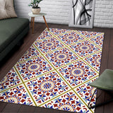 Luxury Traditional Colorful Ornaments Design Two Area Rug