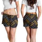 Glittering Gold Love Women's Shorts