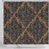 Royal Black Shower Curtain