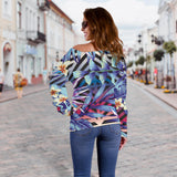 Summer Jungle Love Women's Off Shoulder Sweater