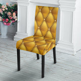 Exclusive Golden Pattern Dining Chair Slip Cover