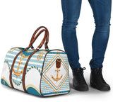 Special Gold & Blue Navy Design - Anchor - Travel Bag