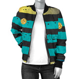 Luxury Neon Strips Women's Bomber Jacket