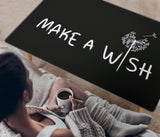 Make A Wish Quote Rectangular Coffee Table