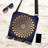 Amazing Blue Mandala Love Crossbody Boho Handbag