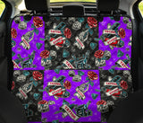 Black & Violet Tattoo Studio Art Design Pet Seat Cover