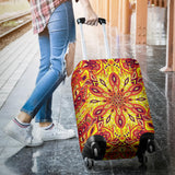 Red Sunny Mandala Luggage Cover