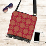 Royal Red Crossbody Boho Handbag