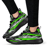 Racing Style Neon Green & Black Vibes Mesh Knit Sneakers