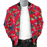 Wild Red With HawkMoth Style Men's Bomber Jacket