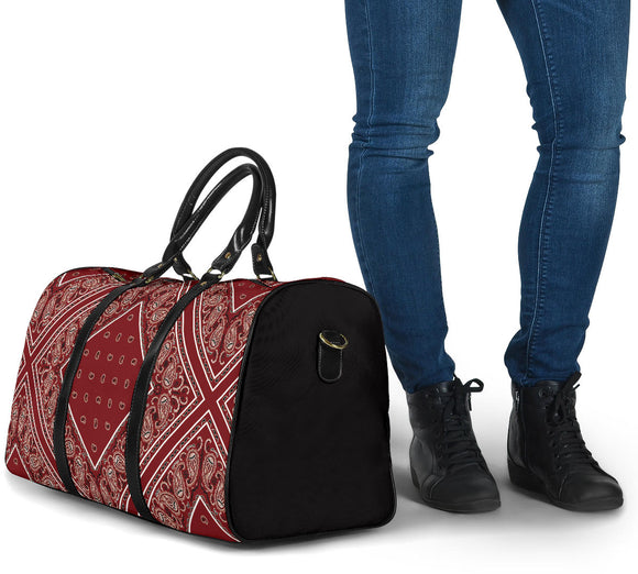 Special Maroon Wine Color Bandana Style Travel Bag
