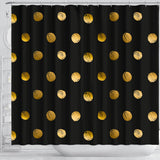 Luxury Golden Dots Shower Curtain