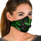 Green Weed Design Premium Protection Face Mask