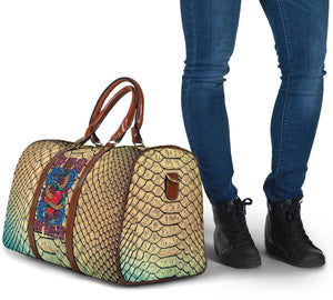 Luxury Metallic Snake Skin Design & My Pet Can Eat Your Pet Tattoo Style Travel Bag