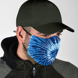 Tie Dye Blue Colorful Protection Face Mask