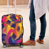 Glittering Army Dots Luggage Cover