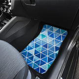 Blue Fashion Triangle Design Front Car Mats