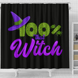 100% That Witch Black Shower Curtain
