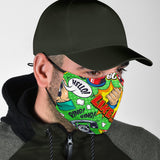 Pop Art Style Two Protection Face Mask