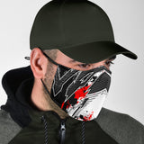 Racing Style White & Black Vibes Protection Face Mask